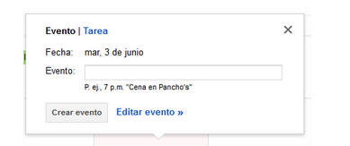 Evento Gmail