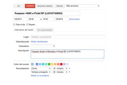 Traspaso Fondos Gmail