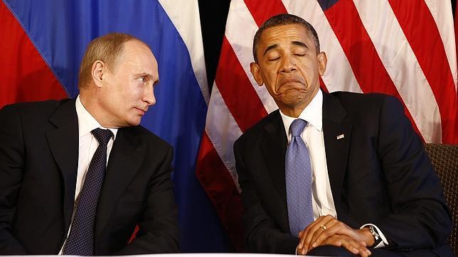 Rusia gola a Estados Unidos (Putin y Obama)