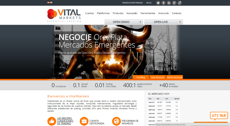 VitalMarkets broker