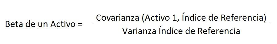 Beta de un activo fórmula cobertura cartera