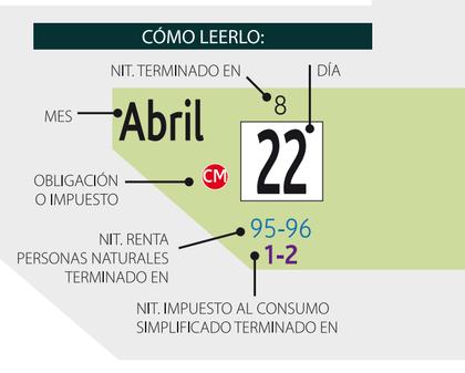 Como leer calendario tributario 2014 foro