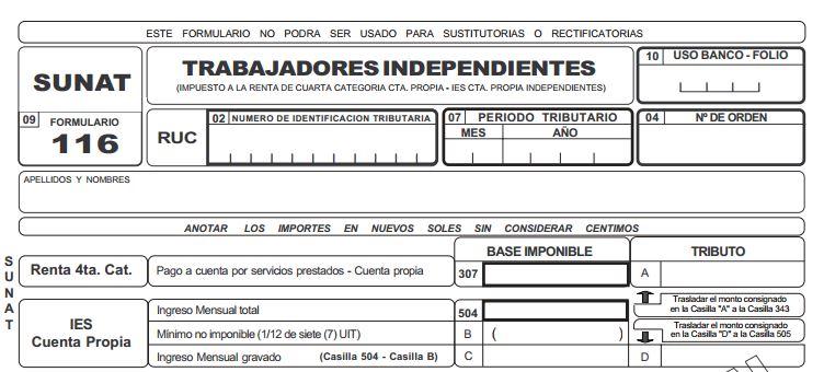 formulario SUNAT