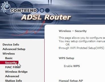 Como cambiar contraseña router Wifi Jazztel:  clic security