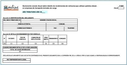 Declaracion jurada formulario 1867 foro