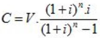 Tipos de amortización fórmulas
