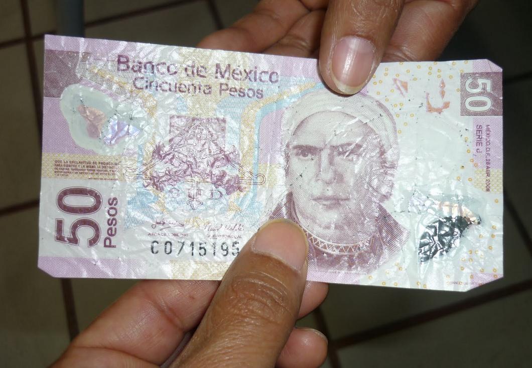 billete falso México