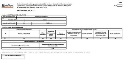Declaraci%c3%b3n jurada sobre operaciones de cr%c3%a9dito de dinero foro