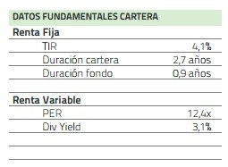 Datos relevantes del fondo Cartesio X