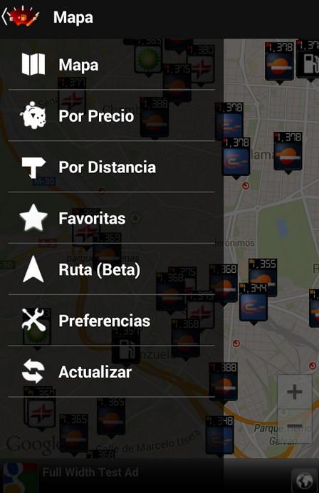 App para coche: Gasolineras España