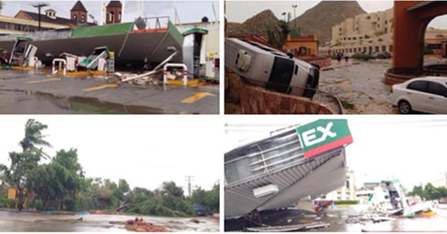Huracán Odile en lBaja California Sur, México.
