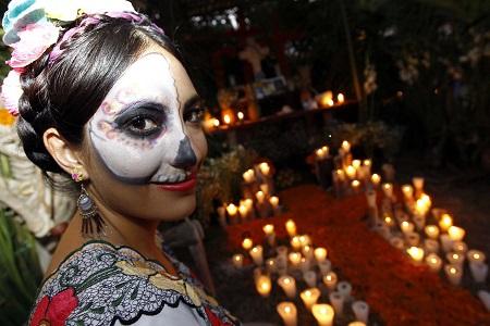 Dia de Muertos en panteón
