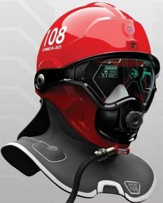 Wereable: casco bombero