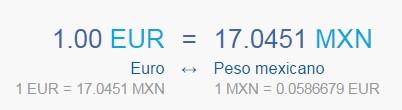 conversor Eur/Mxn