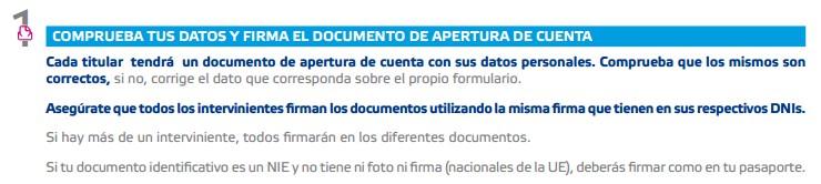 Firmar contrato Cuenta Self