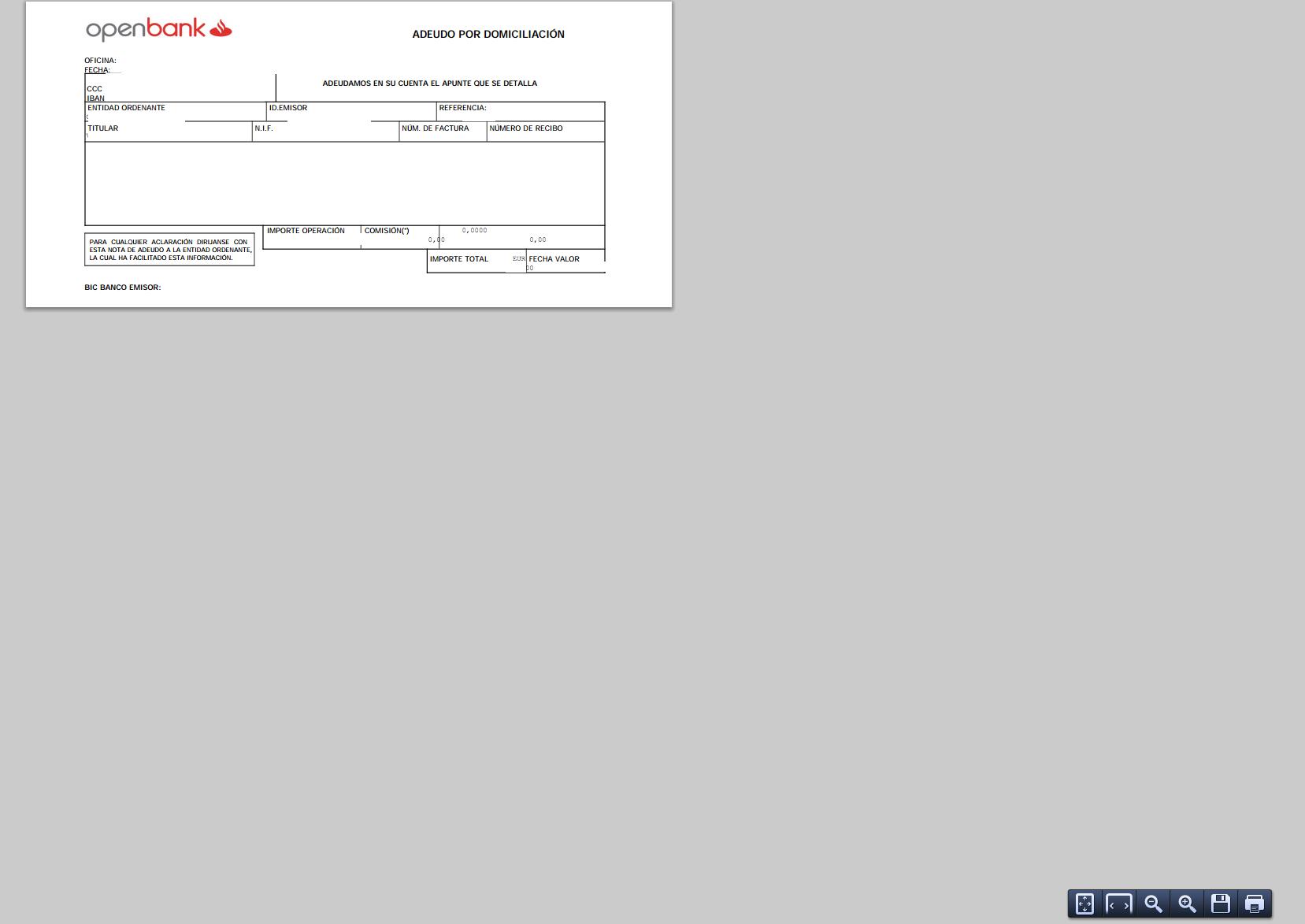 Cómo se pueden imprimir los recibos en un banco online? Openbank ...