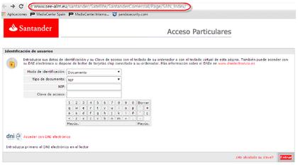 Ojo phishing a los clientes del banco santander rankia for Banco santander mas cercano a mi ubicacion