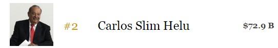 Carlos Slim Helú, hombre más rico México