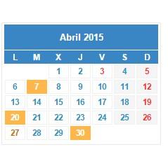 calendario fiscal abril 2015