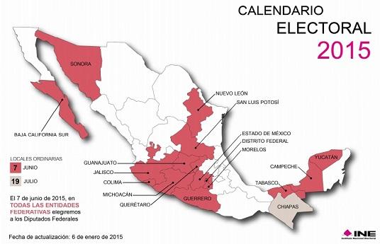 No votar conviene al PRI Calendario electoral 2015