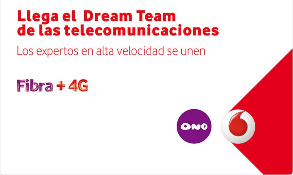 Vodafone One: fibra óptica de Ono + 4G de vodadone
