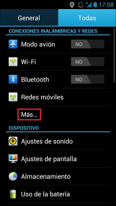 ¿Cómo usar el móvil como router? Android página inicial