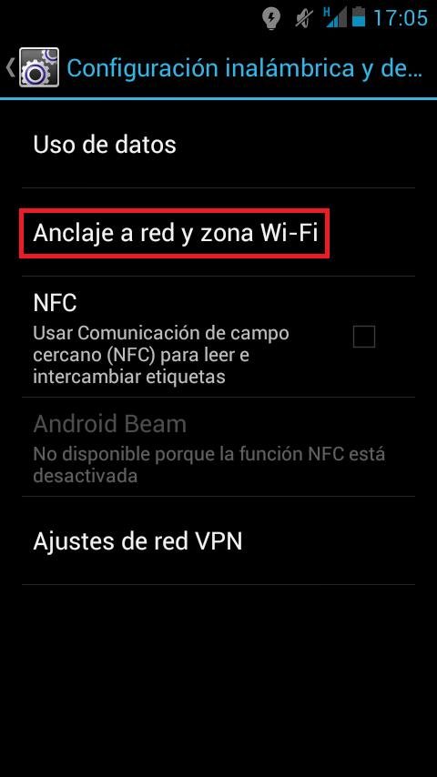 ¿Cómo usar el móvil como router? Android Anclaje de red