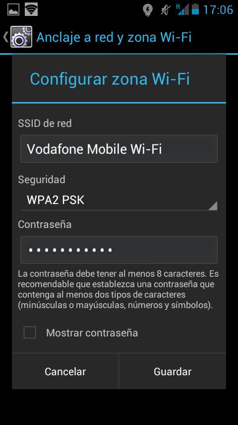 ¿Cómo usar el móvil como router? Android Contraseña y nombre de la red