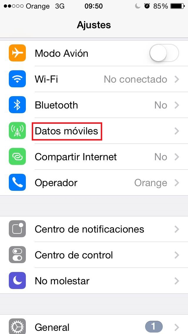 ¿Cómo usar el móvil como router? iPhone opción 2 datos móviles