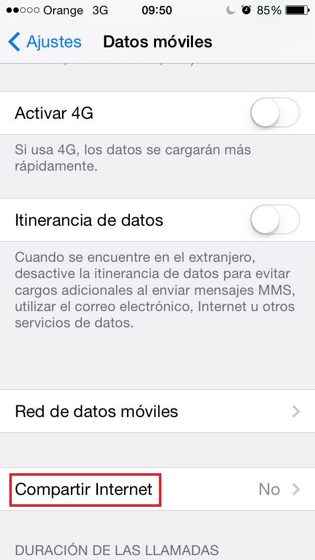 ¿Cómo usar el móvil como router? iPhone compartir internet movil