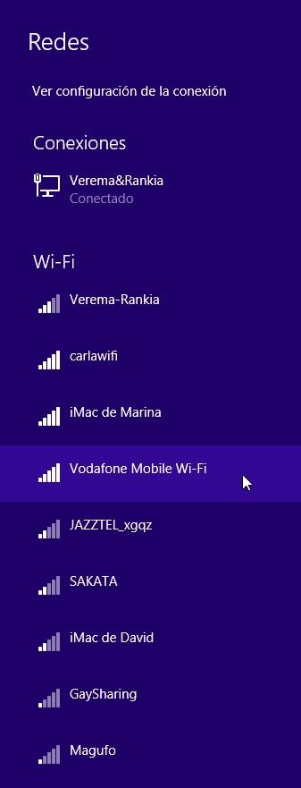Redes Wi-Fi conexión router movil windows