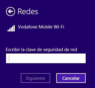 Contraseña usar movil como router windows