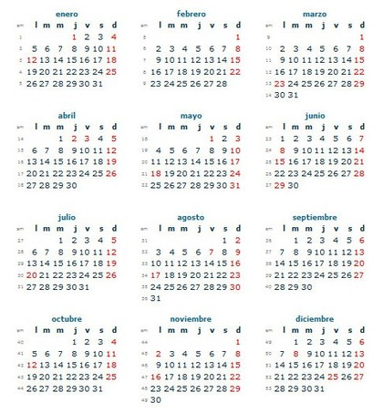 Calendario Ano 2020 Colombia Con Festivos.Calendario Laboral Colombia 2015 Dias Festivos Rankia