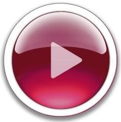 Botón Play rojo