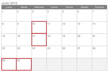Calendario de impuestos para junio 2015 foro