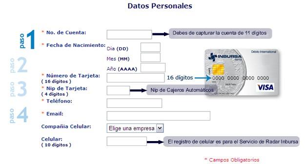 1º Paso: Datos personales