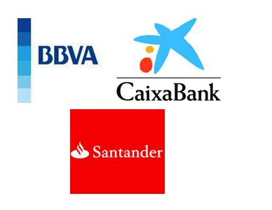 Comisiones en los cajeros Caixabank, BBVA y Santander