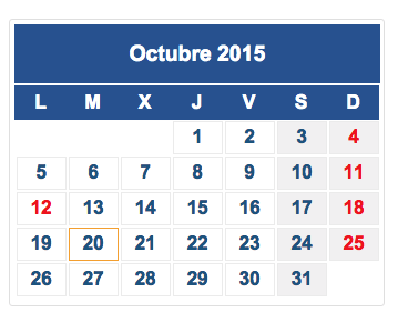 calendario fiscal octubre 2015