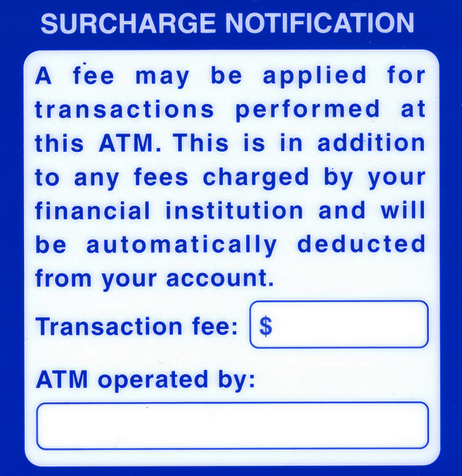 Surcharge fee
