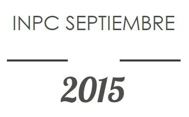 INPC Septiembre 2015: Nuevo mínimo histórico