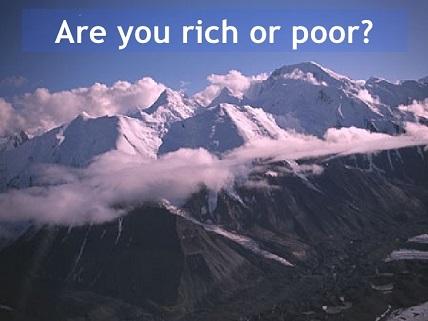 Qué significa ser rico