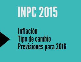 INPC 2015: Tipo de cambio, inflación y previsiones para 2016