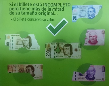 billete roto sigue conservando su valor