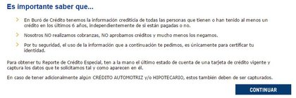 web de Buró de Crédito