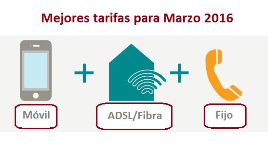 Mejores tarifas internet, fijo y móvil para marzo de 2016