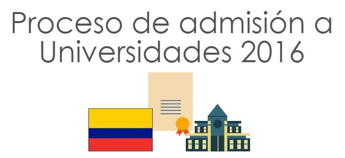 Proceso de Admision Universidades 2016