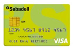 Tarjeta SIN Sabadell