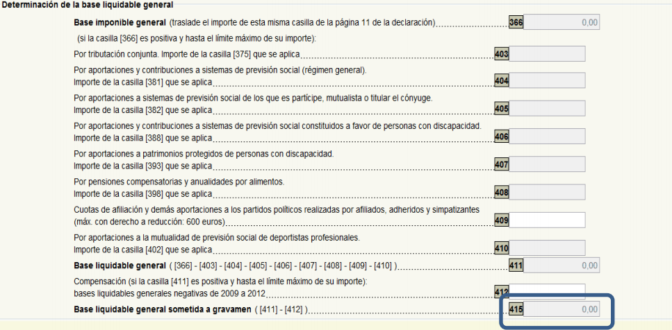 Casilla 490 Declaracion