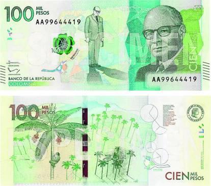 Nuevos Billetes de Colombia en 2016