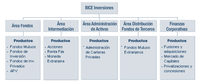 Áreas de Negocio BICEInversiones